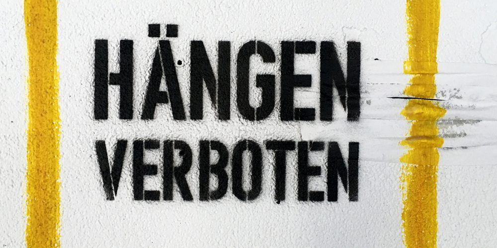 Vernissage: Hängen Verboten